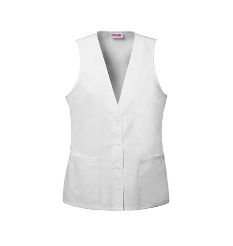 Cherokee Whites Women's Lace Trimmed Vest White