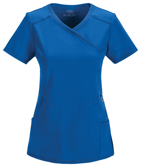 27d7f754095 Infinity Mock Wrap Top in Royal 2625A-RYPS from Cherokee Scrubs at ...