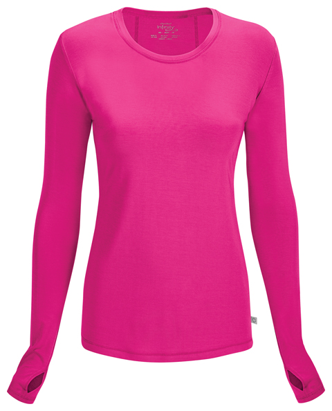 87a6c85d30f Infinity Long Sleeve Underscrub Knit Tee in Carmine Pink 2626A-CPPS ...