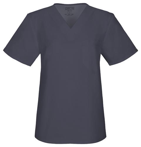 Cherokee Workwear WW Flex Unisex Unisex V-Neck Top Gray