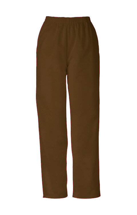 Cherokee Workwear WW Originals Women's Natural Rise Tapered Leg Pull-On Pant Brown