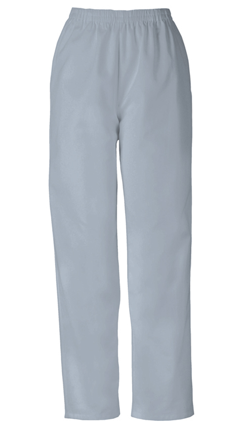 Cherokee Workwear WW Originals Women's Natural Rise Tapered Leg Pull-On Pant Grey