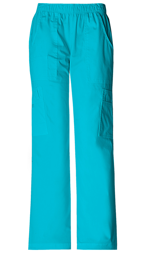WW Premium Women's Mid Rise Pull-On Pant Cargo Pant Blue
