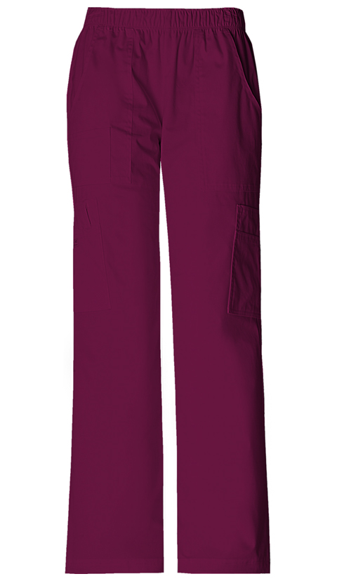 Cherokee Workwear WW Premium Women's Mid Rise Pull-On Pant Cargo Pant Purple