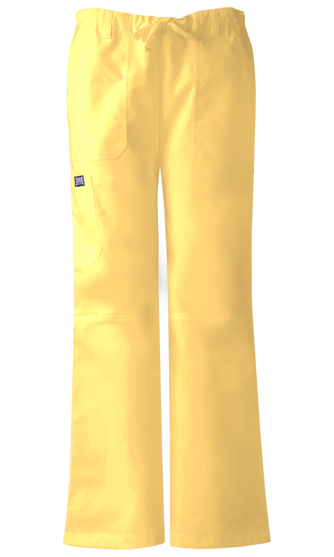 Cherokee Workwear WW Originals Women's Low-Rise Drawstring Cargo Pant Yellow