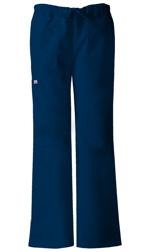WW Originals Women's Low-Rise Drawstring Cargo Pant Blue
