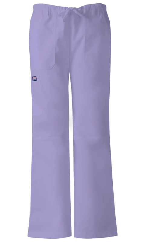 Cherokee Workwear WW Originals Women's Low-Rise Drawstring Cargo Pant Purple