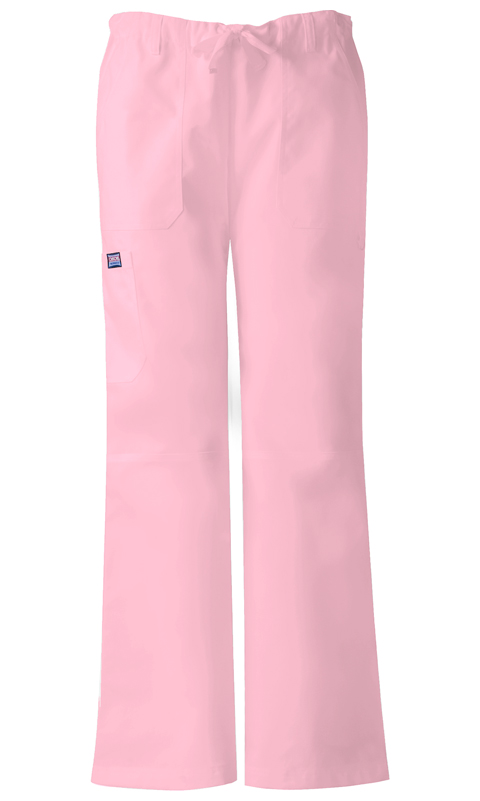 Cherokee Workwear WW Originals Women's Low Rise Drawstring Cargo Pant Pink