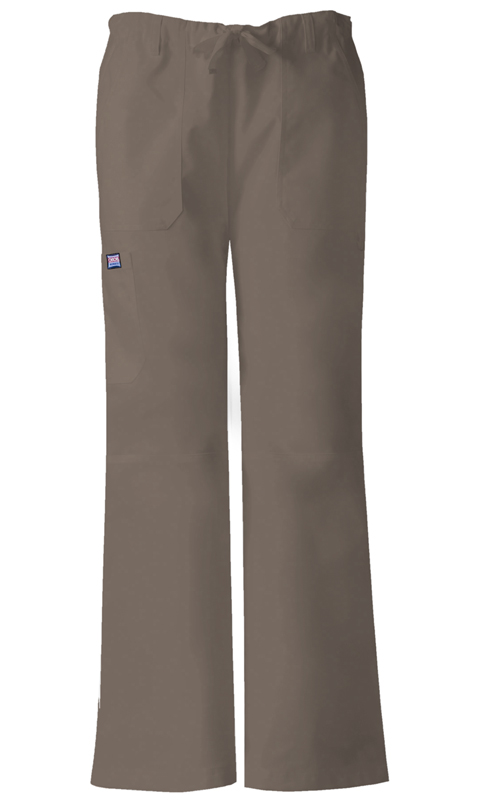Cherokee Workwear WW Originals Women's Low Rise Drawstring Cargo Pant Neutral
