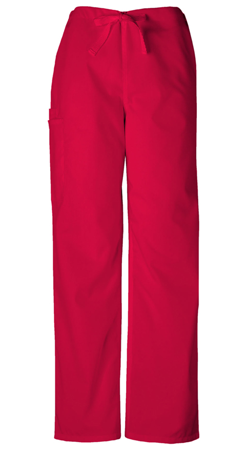 Cherokee Workwear WW Originals Unisex Unisex Drawstring Cargo Pant Red