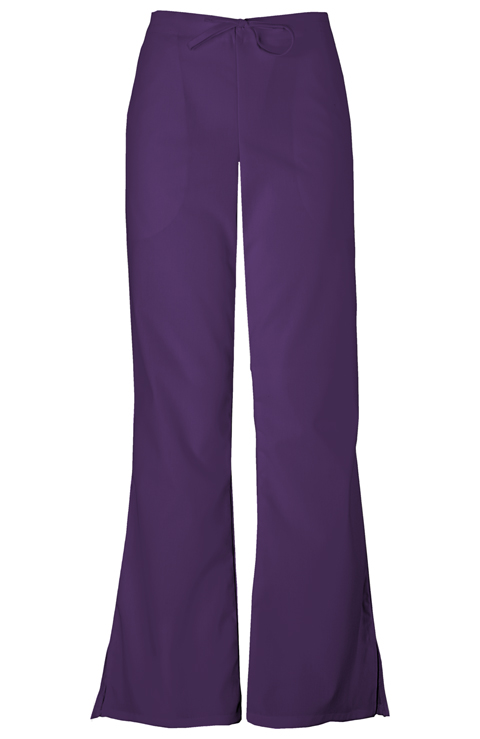 WW Originals Women's Natural Rise Flare Leg Drawstring Pant Purple