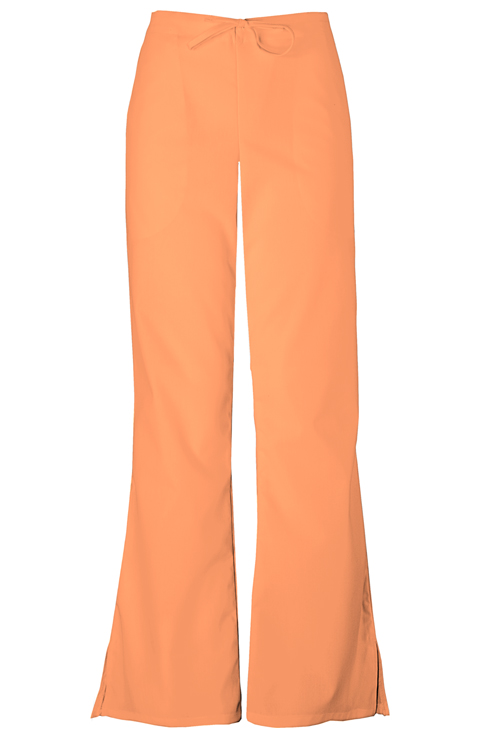 Cherokee Workwear WW Originals Women's Natural Rise Flare Leg Drawstring Pant Orange