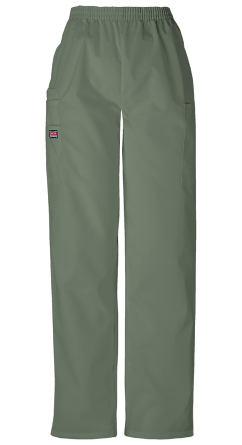Cherokee Workwear WW Originals Women's Natural Rise Tapered LPull-On Cargo Pant Green