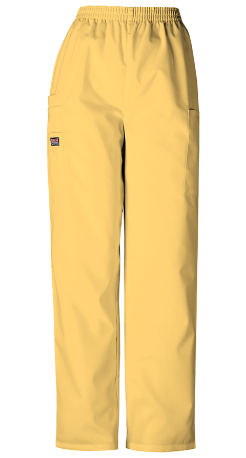 Cherokee Workwear WW Originals Women's Natural Rise Tapered LPull-On Cargo Pant Yellow