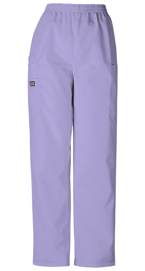 Cherokee Workwear WW Originals Women's Natural Rise Tapered LPull-On Cargo Pant Purple