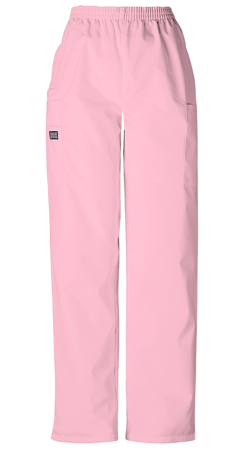 Cherokee Workwear WW Originals Women's Natural Rise Tapered LPull-On Cargo Pant Pink