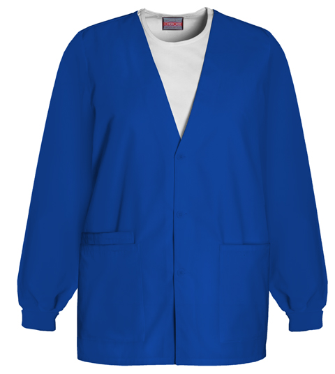 Cherokee Workwear WW Originals Women's Cardigan Warm-Up Jacket Blue