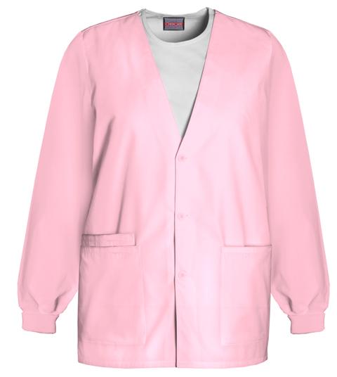 Cherokee Workwear WW Originals Women's Cardigan Warm-Up Jacket Pink