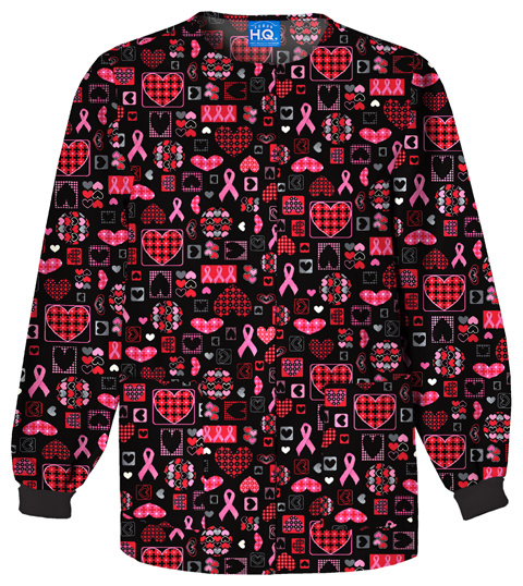 Cherokee Prints Women's Snap Front Warm-Up Jacket Black