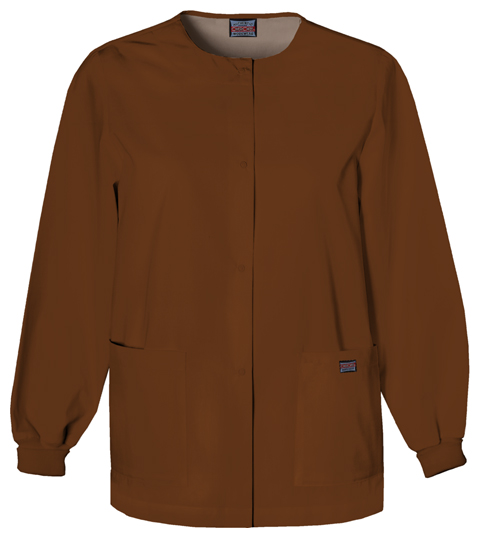 WW Originals Women's Snap Front Warm-Up Jacket Brown