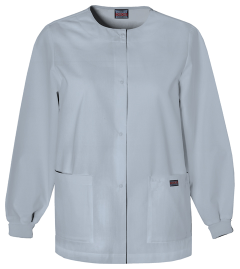 WW Originals Women's Snap Front Warm-Up Jacket Grey