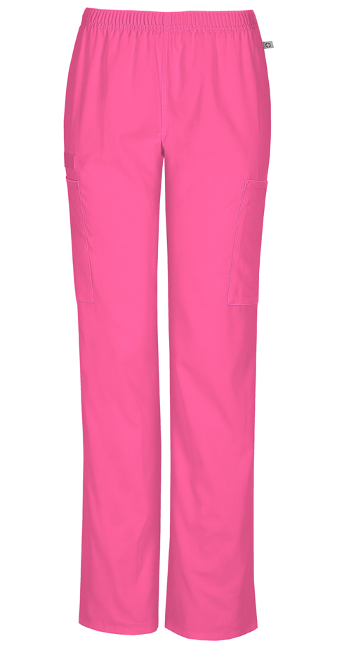 d79bba2c3fe WW Flex Mid Rise Straight Leg Elastic Waist Pant in Shocking Pink ...
