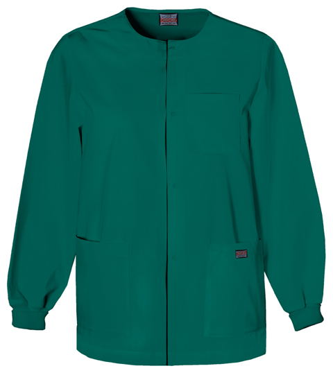 Cherokee Workwear WW Originals Men's Men's Snap Front Warm-Up Jacket Green