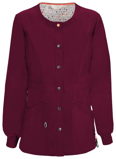 Code Happy Code Happy Bliss Women's Snap Front Warm-up Jacket Purple