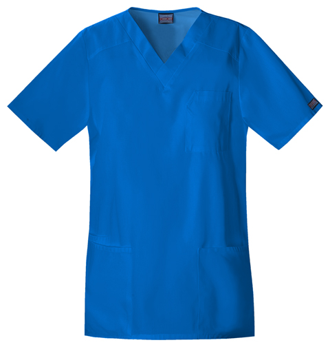 Cherokee Workwear WW Originals Unisex Tall Unisex V-Neck Top Blue