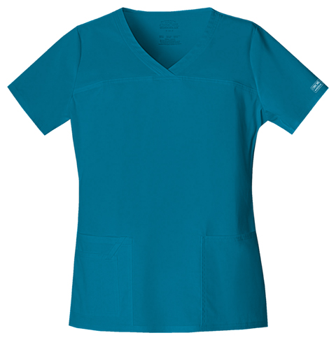 Cherokee Workwear WW Premium Women's V-Neck Top Blue