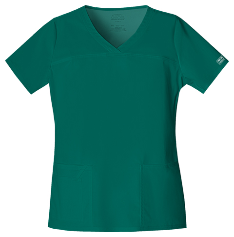 Cherokee Workwear WW Premium Women's V-Neck Top Green