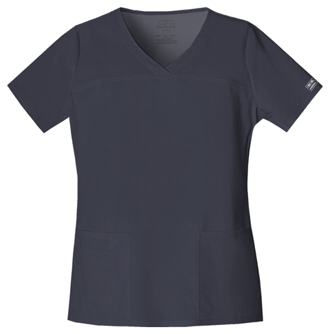 Cherokee Workwear WW Premium Women's V-Neck Top Grey