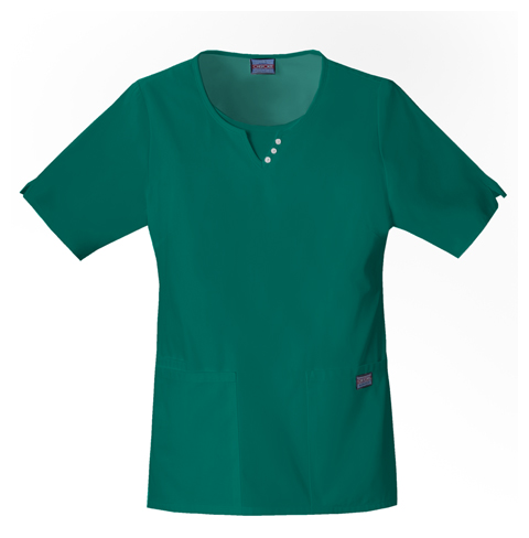 Cherokee Workwear WW Originals Women's Round Neck Top Green