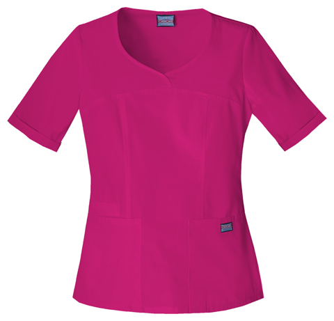 Cherokee Workwear WW Originals Women's V-Neck Top Red