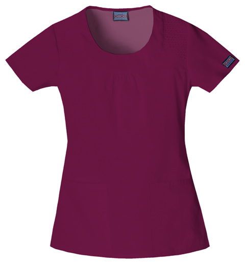 Cherokee Workwear WW Originals Women's Round Neck Top Purple