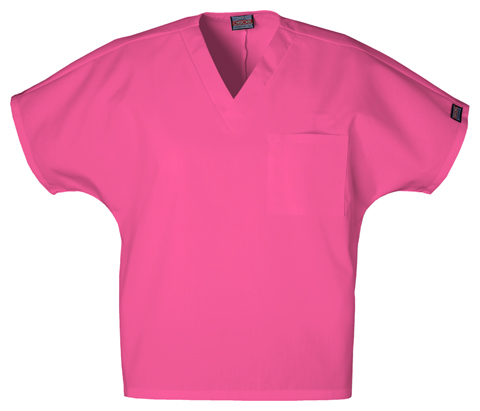 Cherokee Workwear WW Originals Unisex Unisex V-Neck Tunic Pink
