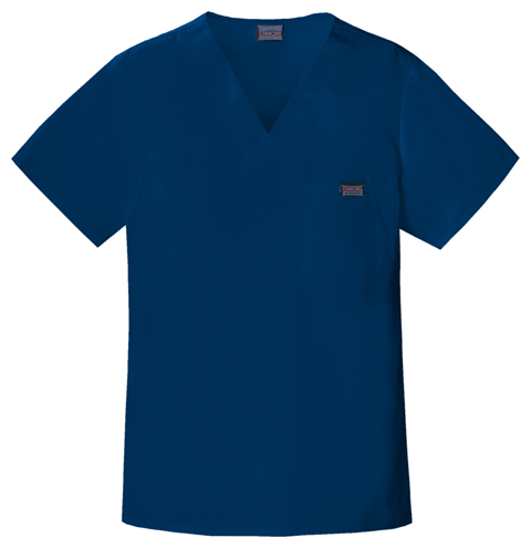 Cherokee Workwear WW Originals Men's Men's V-Neck Top Blue
