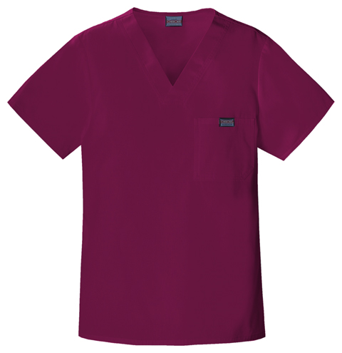 Cherokee Workwear WW Originals Men's Men's V-Neck Top Purple