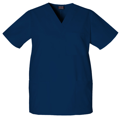 Cherokee Workwear WW Originals Unisex Unisex V-Neck Top Blue