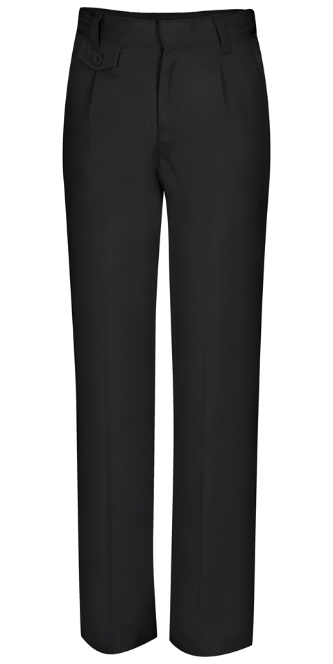 Classroom Girl's Girls Adj. Waist Pleat Front Pant Black