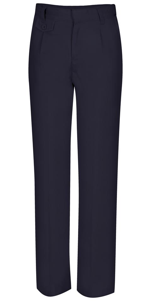 Classroom Uniforms Classroom Girl's Girls Adj. Waist Pleat Front Pant Blue