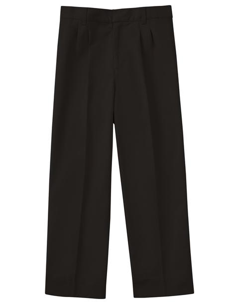 "Classroom Men's Men's Pleat Front Pant 30"" Inseam Black"