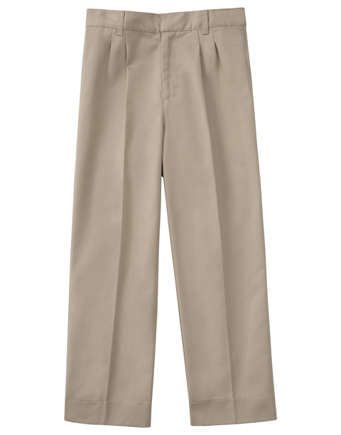 "Classroom Men's Men's Pleat Front Pant 30"" Inseam Khaki"