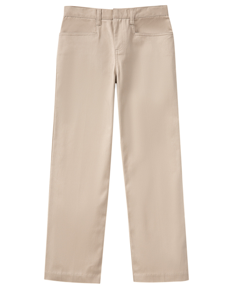 Classroom Girl's Girls Stretch Low Rise pant Khaki