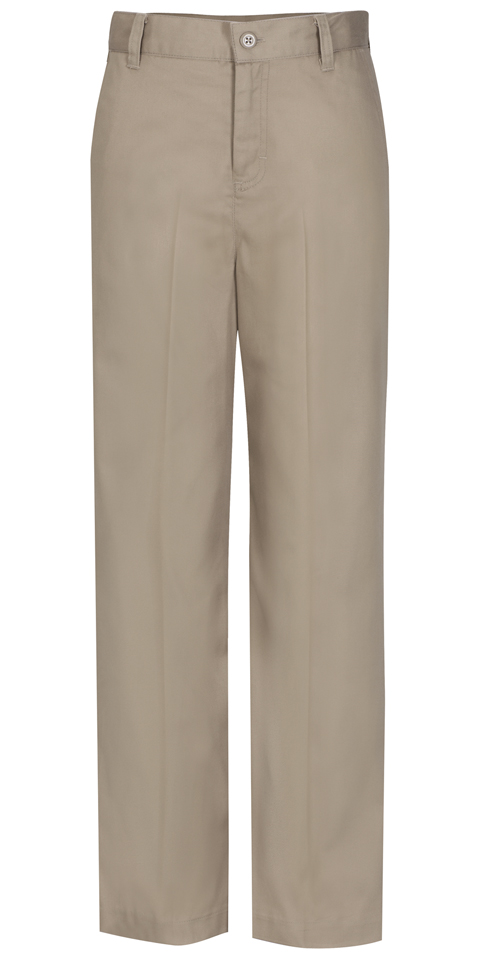 Classroom Girl's Girls Plus Flat Front Trouser Pant Khaki