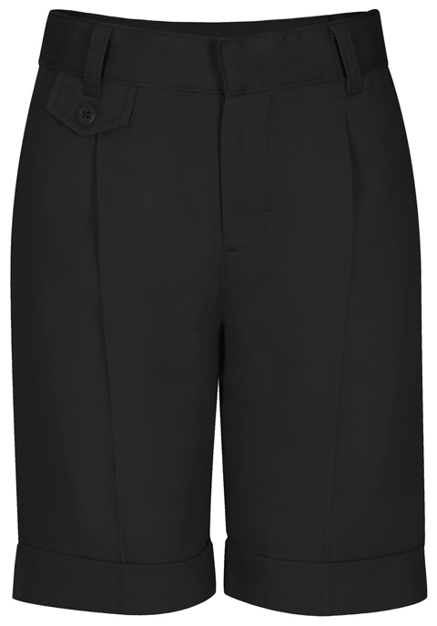 Classroom Uniforms Classroom Girl's Girls Adj. Waist Pleat Front Short Black