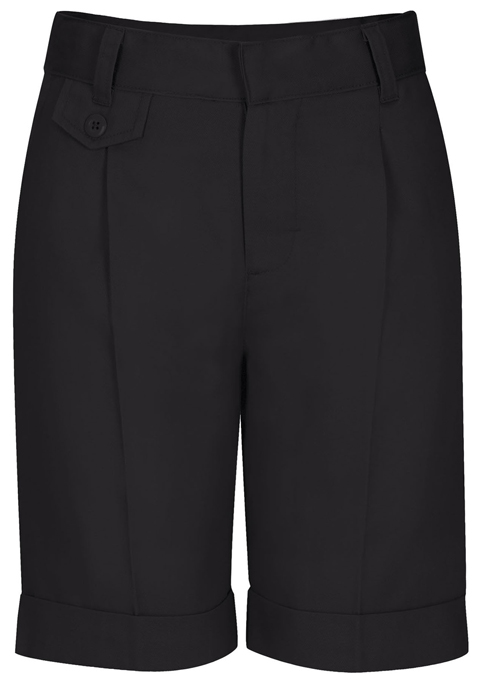 Classroom Girl's Girls Plus Pleat Front Short Black