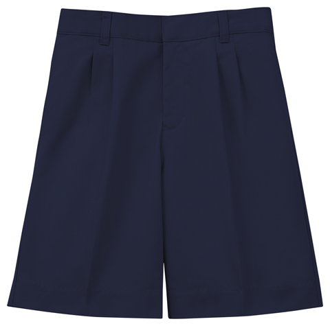 Classroom Boy's Boys Adj. Waist Pleat Front Short Blue