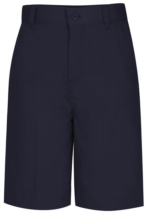 Classroom Girl's Girls Plus Flat Front Bermuda Short Blue