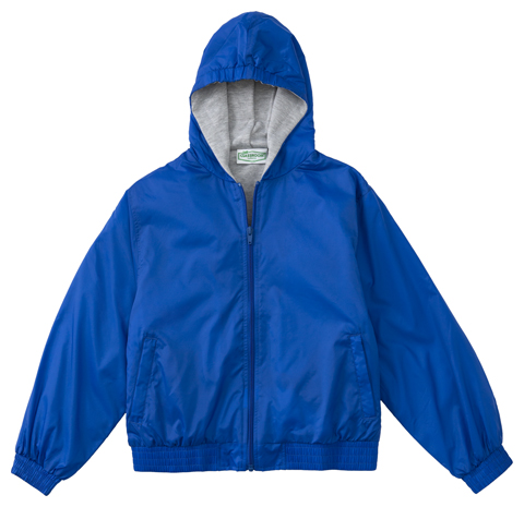 Classroom Child's Unisex Youth Unisex Zip Front Bomber Jacket Blue